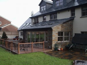 Swansea House Build Stone Work Local Construction Company